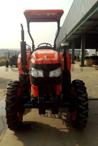 New 45HP Four-Wheel Driving Wheel Tractor with Diesel Engine of Kubota Type (OX454) pictures & photos