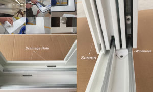 Australia Standard PVC Double Glazed Sliding Windows pictures & photos