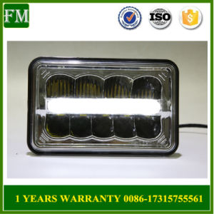Universal Black/Chrome Square LED Headlight pictures & photos