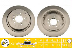 Spare Parts Brake Disc 350mm Vented for Landrover pictures & photos