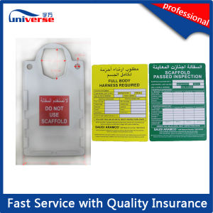 Big Size Safety Scaffold Tag/Scaffolding Inspection Tag pictures & photos