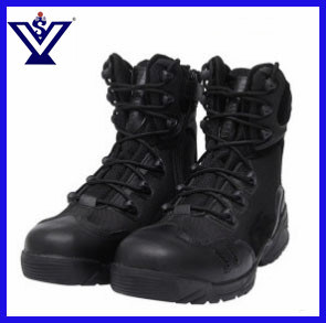 High Quality Black Army Tactical Combat Boots Shoes (SYSG-1803) pictures & photos