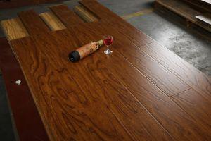 12mm Wood Grain U-Groove Laminate Floor pictures & photos