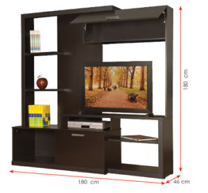 Modern MFC Laminated Wooden Cabinet TV Stands (HX-DR264) pictures & photos