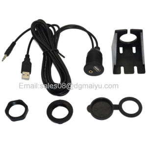 2 Meters Length USB & 3.5mm Aux Extension Flush Mount 6.5 Feet Audio Cable pictures & photos