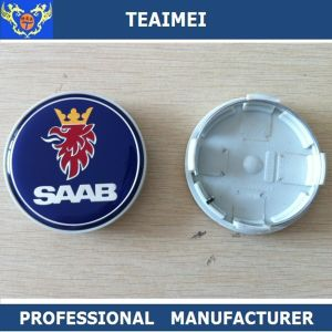 63mm Alloy Chome Custom Plastic Hub Caps Car Emblem Cover