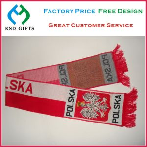 Jacquard Soccer Fans acrylic Scarf (KSD-1127) pictures & photos
