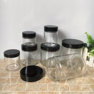200ml 300ml 450ml 500ml 650ml Empty Glass Straight Food Jar Container pictures & photos
