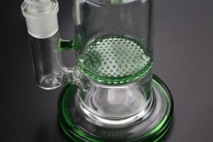 Glass Smoking Pipe Water Pipe Double Honeycomb and Thick Base pictures & photos