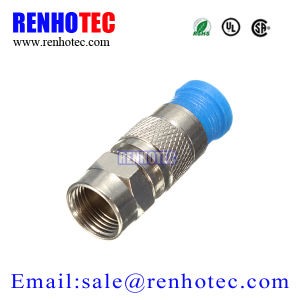 Compression RG6 Rg59 F Type Male Connector pictures & photos