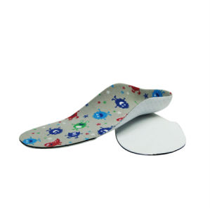Kids Orthopedic Insole Fabric&EVA Insole for Arch Support pictures & photos
