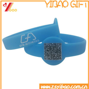 Custom Qr Code Silicone Wristband/RFID Wristband (XY-SW-001) pictures & photos