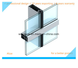 Energy Saving and Envrimental Protection Semi-Invisble Curtain Wall pictures & photos
