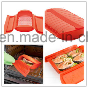 Lekue Supplier Food Grade FDA Approved 100% Platnum Silicone Cooking Box Steaming Box pictures & photos