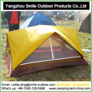 2 Person Camping Wind Resistant Event Dome Double Deck Tent pictures & photos