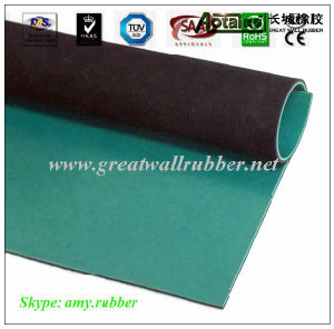 Green Black Composite Anti-Static Rubber Sheet Mat, Anti-Static Floor pictures & photos