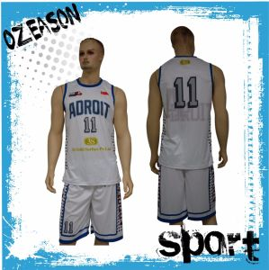 Breathable Polyester Mens Basketball Fitness Wear (BK035) pictures & photos