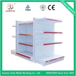 Double Sided Supermarket Shelf with Round End pictures & photos