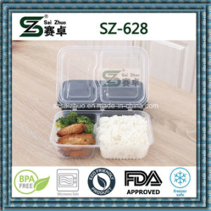Black Microwavable Disposable Food Container with Hinged Lid pictures & photos