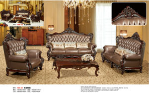 Royal Style 1+2+3 Leather Sofa, Europe New Classic Sofa (169) pictures & photos