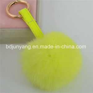 Online Shopping Rabbit Fur POM Poms Key Chain pictures & photos