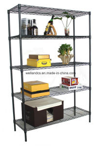Modern Powder Coating DIY Steel Wire Rack for Household pictures & photos