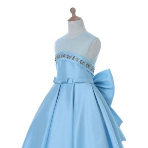 Blue/White Flower Girl Dress for Wedding and Ceremonial pictures & photos