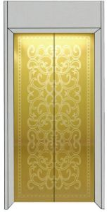 Das Hot Sale Passenger Elevator with Golden Etching Decoration pictures & photos