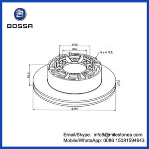 Truck Parts ABS Set Brake Disc 1908773 Used for Iveco Turbo Daily pictures & photos
