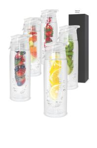 Custom Plastic Fruit Lemon Infuser Water Bottles (BPA Free) pictures & photos