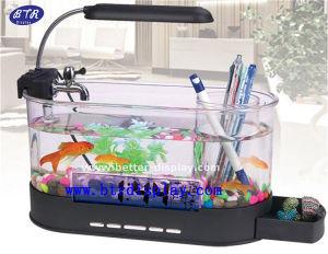 Acrylic Plastic Black Square Fish Tank for Sale (BTR-Q9003) pictures & photos