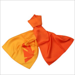 New Design Uniform Printed Silk Polyester Logo Scarf (SF-018) pictures & photos