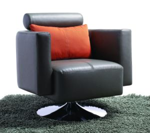 Modern Steel Metal Base Fabric Upholstery Leisure Chair (HX-S001) pictures & photos