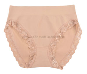 Women′s Seamless High Cut Lingerie Lace Briefs pictures & photos