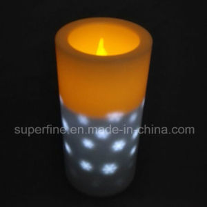 Reuse Safe Battery Operated Real Candle Flickering Pillar Plastic LED Candles for Home Decoration pictures & photos