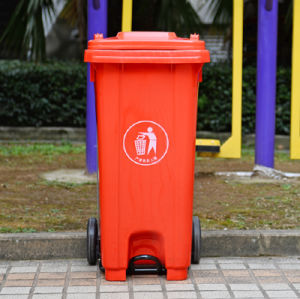 120 Liter HDPE Durabale Foot Pedal Garbage Bin Trash Can pictures & photos