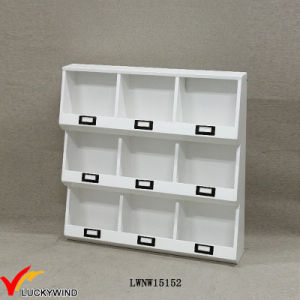 Handmade French Small Decorative Wall White Wooden Shelving Units pictures & photos