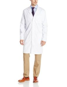 Unisex 100%Polyester Long Sleeve Medical Lab Coat (A616)