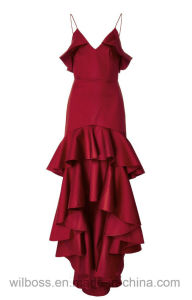 Noble and Elegant Red Strap Evening Dress pictures & photos
