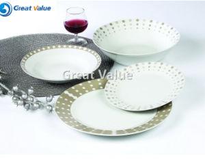 19PCS Round Ceramic Dishes Set pictures & photos