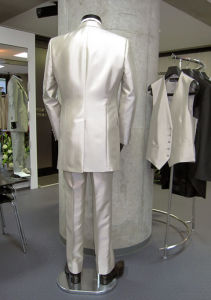 Long Sleeves Tuxedo 5 Piece Wedding Dress Men Suits % Groom Striped Suit & Business Suit pictures & photos