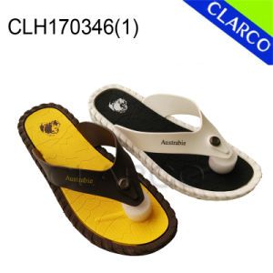 EVA Sole Men Slipper Flip Flop with PVC Thongs pictures & photos