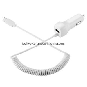 Wholesale Hot Sale 1 Port USB Car Charger with 1.5m Cable for Samsung for LG, 5V 2.1A Car Charger with LED pictures & photos