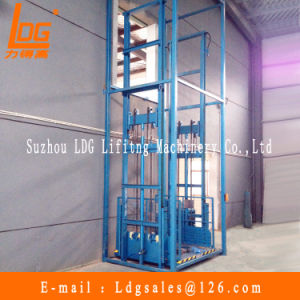 Stationary Hydraulic Guide Rail Lift Table (SJD1-4.3D) pictures & photos