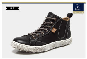 High Top Genuine Leather Hot Sales Casual Shoes (LT-004)
