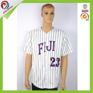 Cheap Custom Sublumated Pinstripe Baseball Jersey Wholesale American Flag Baseball Jersey pictures & photos