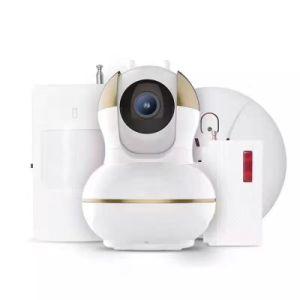 Wireless IP WiFi Camera Alalrm System with PIR Sensor Smoke Detector Window/Door Sensor Home Alarm System pictures & photos