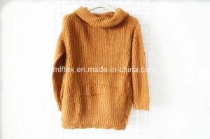 Turtleneck Long Sleeve Velvet Sweater for Women pictures & photos
