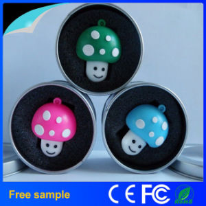 Custom Promotional PVC Cartoon Mushrooms USB Flash Drive