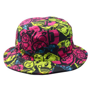 Custom Caps and Hats Polyester Bucket Hat Floral Fishing Cap Lady Hat pictures & photos